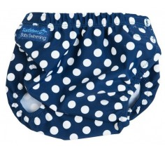 Плавки-подгузники  Aquanappy, Navy polka dot, Konfidence (OSSN09)
