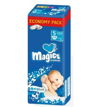 Подгузники Magics Premium Junior 5 (12-25 кг), 54 шт.