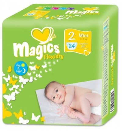 Подгузники Magics Flexidry Mini 2 (3-6 кг), 24 шт.
