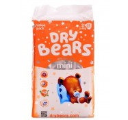 Подгузники Dry Bears Slim&Cool 2 mini (3-6 кг),  52  шт
