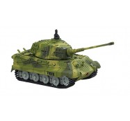 Танк микро на р/у King Tiger со звуком, Great Wall Toys (GWT2203-1 зеленый)