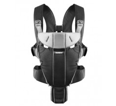 Рюкзак Baby Carrier Miracle (Black/Silver, Cotton Mix), Baby Bjorn (96065)