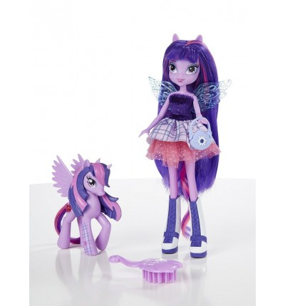 Кукла Твайлайт Спаркл (Twilight Sparkle) с пони и аксессуарами, My Little Pony Equestria Girls (A3996&A5102)