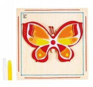 Мозаика из бамбука Beautiful Butterfly, Hape (E5121)