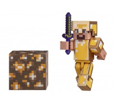 Ігрова фігурка Minecraft Steve in Gold Armor 7 см, (16488M)