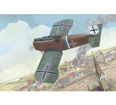 Сборная модель самолета Junkers D.I WWI German fighter, late, Roden (RN036)