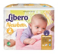 Подгузники Libero Baby Soft 2 Mini  (3-6 кг) 36 шт