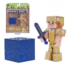Ігрова фігурка Minecraft Alex in Gold Armor 7,5 см, (19970M)