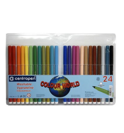 "Фломастеры ""Colour World"" - 24 цвета, Centropen (7550/24 ТП)"