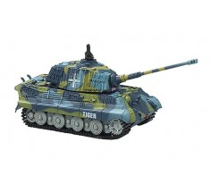 Танк микро на р/у King Tiger со звуком, Great Wall Toys (GWT2203-3 синий)