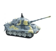 Танк микро на р/у King Tiger со звуком, Great Wall Toys (GWT2203-4 серый)